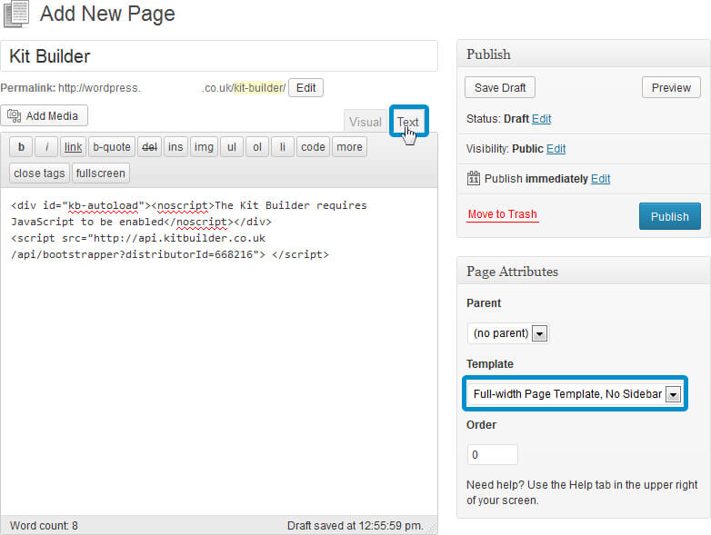 Integration wordpress-2.