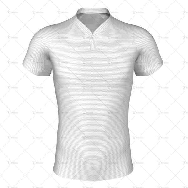 Wrap Collar for Pro-fit Rugby Shirt Front View