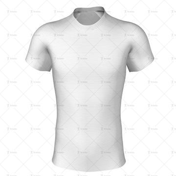 Round Collar for Pro-fit Rugby Shirt Front View