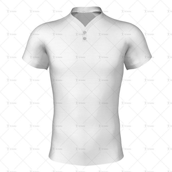 Wrap Buttoned Collar for Pro-fit Rugby Shirt Front View