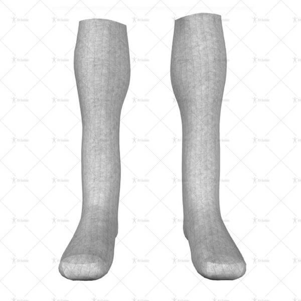 Long Sports Socks Front View