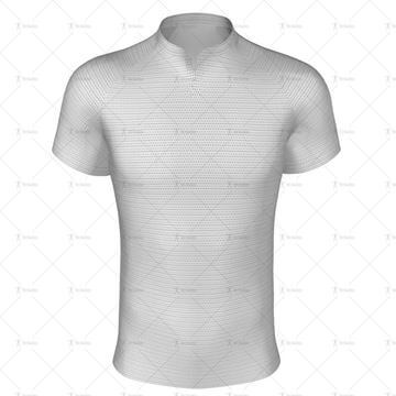 Stealth Collar for Regular-fit Rugby Shirt Front View