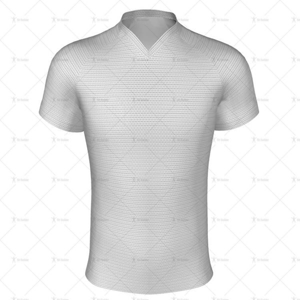 V-Neck Collar for Regular-fit Rugby Shirt Front View