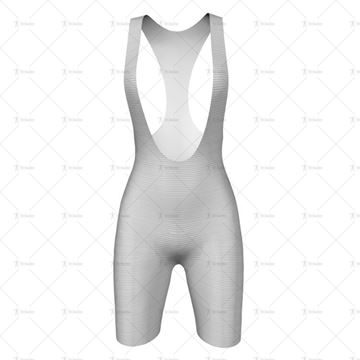Womens Cycling Bib Shorts Front View