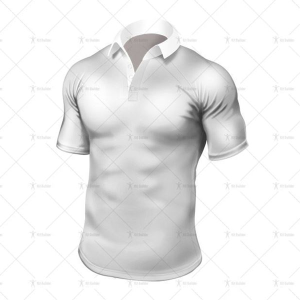 Tight-Fit Rugby Shirt Traditional Collar Front View
