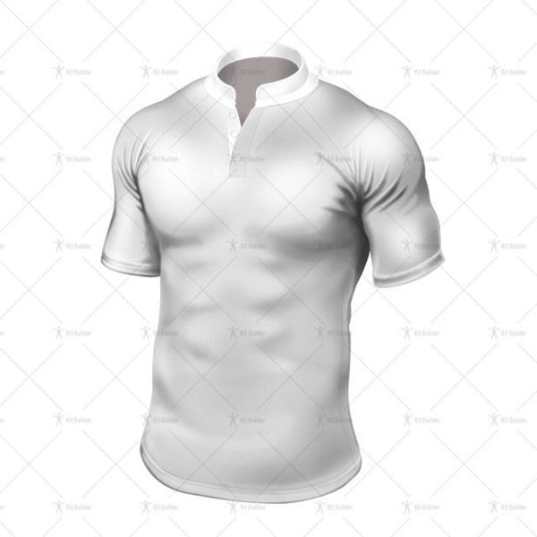 Grandad Collar for Tight-Fit Rugby Shirt Front View