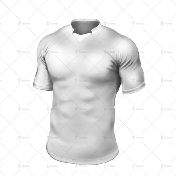 Paris Collar for Tight-Fit Rugby Shirt Front View