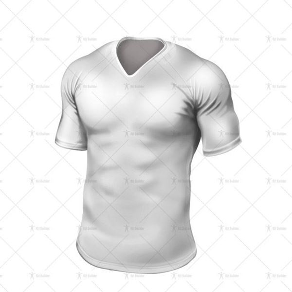 Ridge Collar for Tight-Fit Rugby Shirt Front View