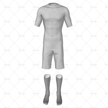 Mens Short Sleeve Full Football Kit Front View