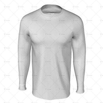 Round Collar for Mens LS Raglan Football Shirt Front View