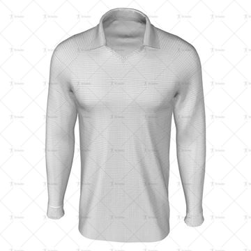 Classic Collar for Mens LS Raglan Football Shirt Front View