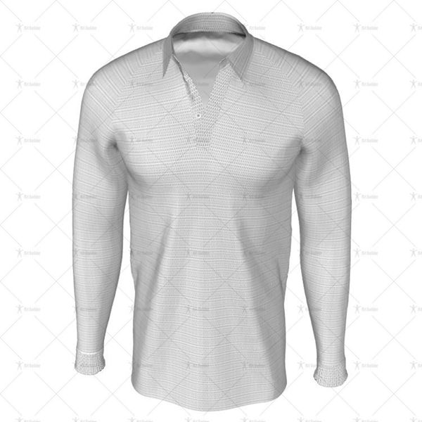 Traditional Collar for Mens LS Raglan Football Shirt Front View