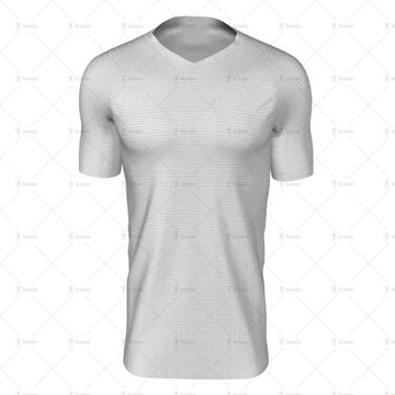 Mens SS Raglan Football Shirt V-Neck Collar Front View