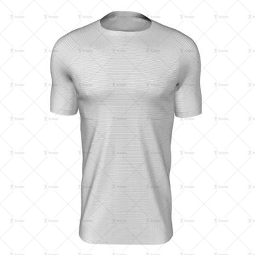 Round Collar for Mens SS Raglan Football Shirt Front View