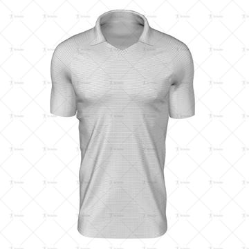 Classic Collar for Mens SS Raglan Football Shirt Front View