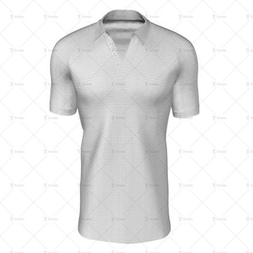 Traditional Collar for Mens SS Raglan Football Shirt Front View