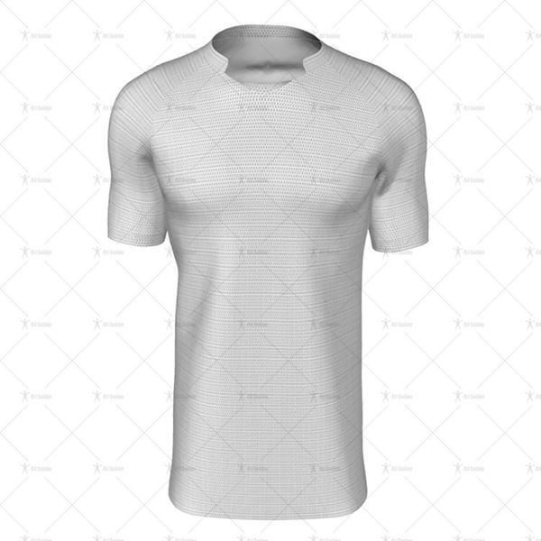 Tonga Collar for Mens SS Raglan Football Shirt Front View