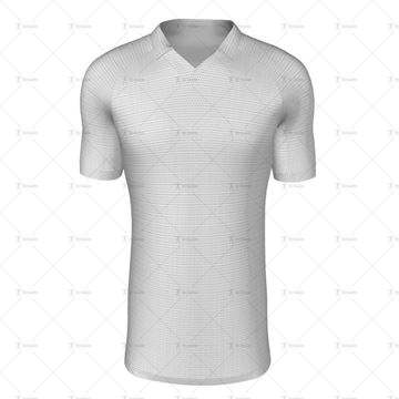 V-Polo Collar for Mens SS Raglan Football Shirt Front View