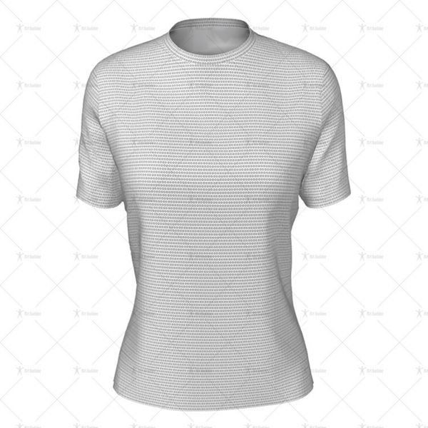 Round Collar for Womens SS Inline Football Shirt Front View