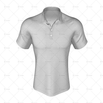 Mens Raglan Polo Shirt Buttoned Collar Front View