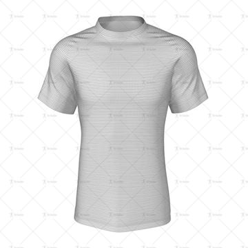 Round Collar for Mens Raglan Polo Shirt Front View