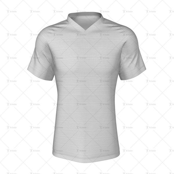 V-Neck Collar for Mens Raglan Polo Shirt Front View