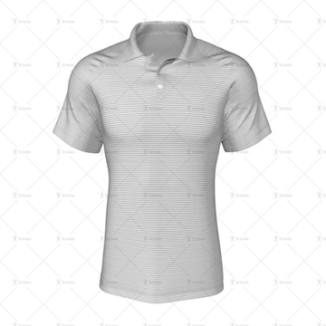 2 Buttoned Collar for Mens Raglan Polo Shirt Front View 3d kit builder