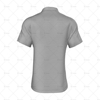 2 Buttoned Collar for Mens Raglan Polo Shirt Back View