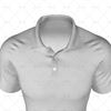 2 Buttoned Collar for Mens Raglan Polo Shirt Close Up View