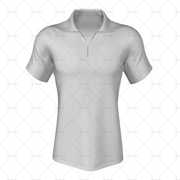 Zipped Collar for Mens Raglan Polo Shirt Front View