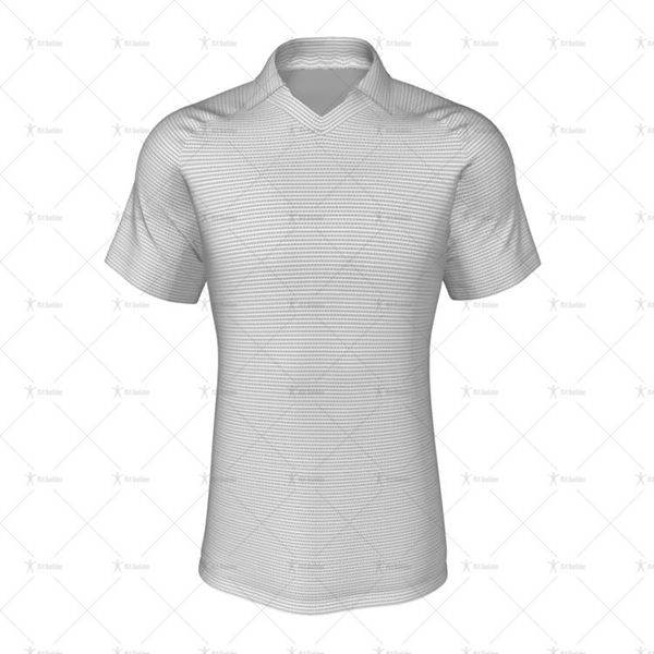Classic Collar for Mens Raglan Polo Shirt Front View