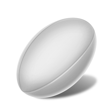 Rugby Ball Front View