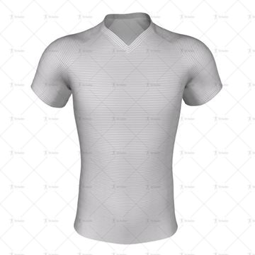 V-Neck Collar for Pro-fit Rugby Shirt Front View
