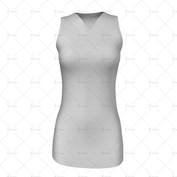 Womens Netball Racerback V-Neck Collar Front View
