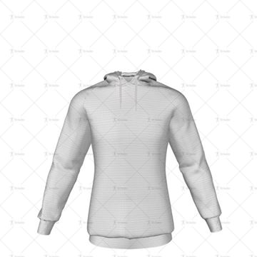 Mens Raglan Hoodie Hood Down No Pocket Front View