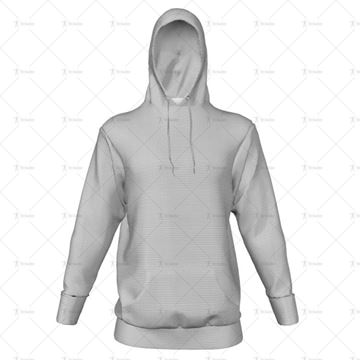 Mens Inline Hoodie Hood Up Front View