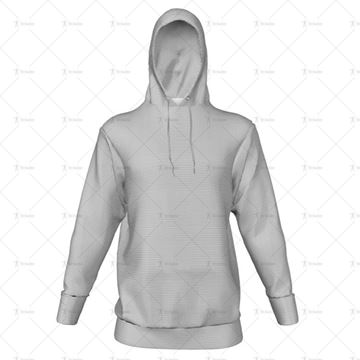 Mens Inline Hoodie Hood Up - No Pocket Front View