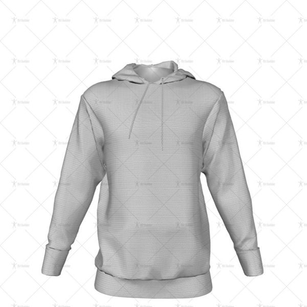 Mens Inline Hoodie Hood Down - No Pocket Front View