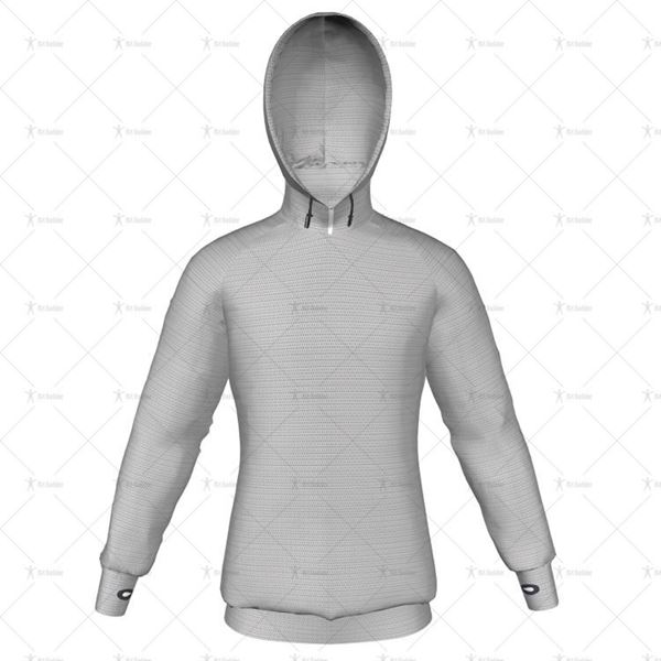 Mens Raglan Pro Hoodie Hood Up Front View