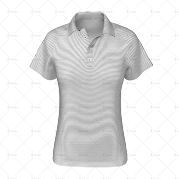 Womens Raglan Polo Shirt Buttoned Collar Front View