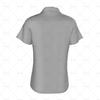 Womens Raglan Polo Shirt Buttoned Collar Back View