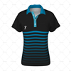 Womens Raglan Polo Shirt Buttoned Collar Front View Design