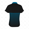 Womens Raglan Polo Shirt Buttoned Collar Back View Design