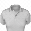 Womens Raglan Polo Shirt Buttoned Collar Close Up View