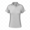 2 Buttoned Collar for Womens Raglan Polo Shirt Front View 3d kit builder