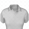 2 Buttoned Collar for Womens Raglan Polo Shirt Close Up View 3d kit builder