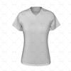 Womens Collar for Womens Raglan Polo Shirt Front View