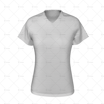Womens Collar for Womens Raglan Polo Shirt Front View