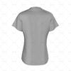 Womens Collar for Womens Raglan Polo Shirt Back View
