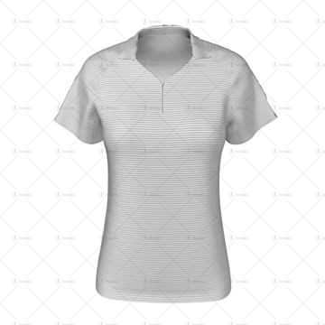 Zipped Collar for Womens Raglan Polo Shirt Front View
